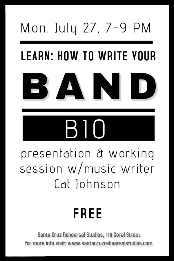 how to write a music bio
